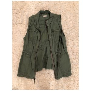 Army Green Vest Perfect for Fall!!